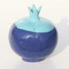 Immagine di vaso scultura Melagrana+ in ceramica colore blue azzurro