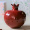 Immagine di Vaso scultura Melagrana+ formato piccolo colore rosso