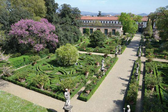 Giardino Corsini visto dall'alto.