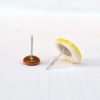 Retro orecchini Leguminosa, variante lupino + lenticchia